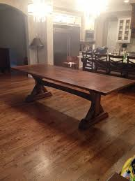 Hickory Table Top Hickory Trestle Table Finewoodworking