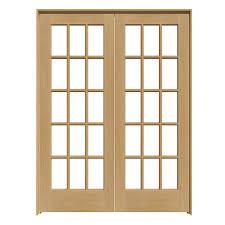 shop reliabilt 15 lite pine french interior door common 60 in x