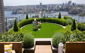 slope garden ideas city landscape top view from rooftop design