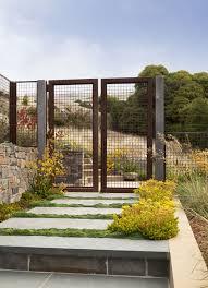 fences and gates landscape beach with angiozanthos bush gem