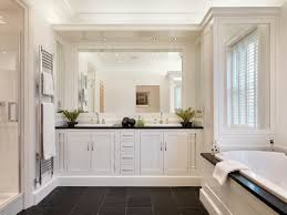 bathroom built in mirror built in shelving dentil molding mirror