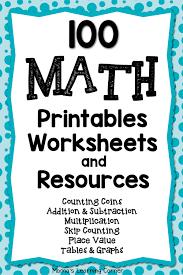 Resources Free Printable Worksheets 100 Math Printables And Resources Worksheets Math And Math