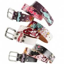 ed hardy eh3103 colored koi kids girls leather belt eh3103k