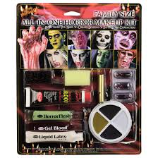 family size all in one horror makeup kit halloween face paint xs