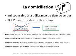 autorisation domiciliation si e social l accès aux droits des bénéficiaires d une protection internationale