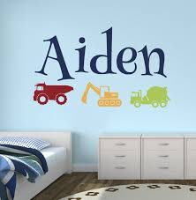 Wall Decals Baby Nursery Lovely Decals World Llc Wall Decor Custom Trucks Boy Name Wall