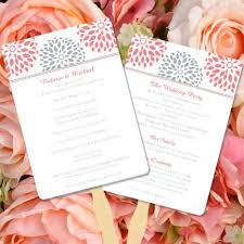Program Fan Template Wedding Program Fans Templates For Diy Ceremony Fan Wedding