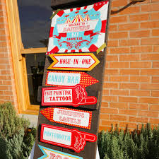 backyard carnival party welcome sign printable welcome sign