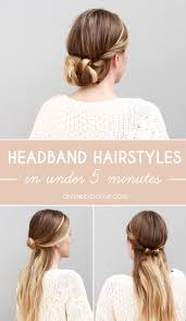 hairstyles with one elastic master these super cute headband hairstyles in under 5 minutes