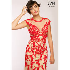 red lace mermaid gown jvn by jovani dress uk red lace prom dress