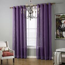 Purple Curtains Sheer Tulle Curtains Voile Green Blue Purple Curtains For Living