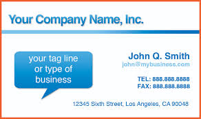 free business cards templates for word bio example