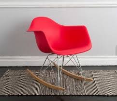 silla replica eames rocker rojo home ideas pinterest eames