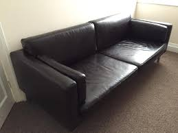 leather 2 5 seater ikea sater sofa brown in old swan merseyside