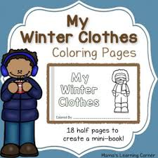 my winter clothes match game mamas learning corner