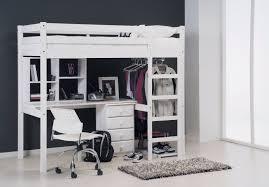 lit avec bureau coulissant moderne architecture ensemble places blanc et avec complete deco