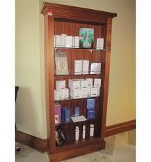 Glass Bookcases Wooden Bookcase With Glass Shelves