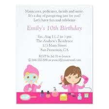 makeup fashion show birthday party invitations party invitations