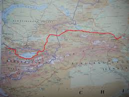 Bishkek Map Cycling High Asia The Mountains Of Asia Maps