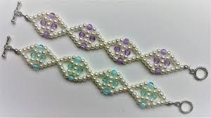 simple pearl bracelet images Two beautiful beaded simple bracelet 1pattern diy elegant pearl jpg