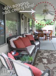 outdoor patio ceiling fans patio lighting ceiling fan makeover lowescreator