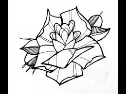 how to draw a tattoo style rose by thebrokenpuppet youtube