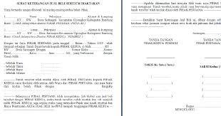 format surat kuasa jual beli rumah contoh format surat jual beli tanah sebelum di aktakan kumpulan