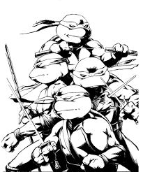 coloring pages ninja turtle color sheets teenage mutant ninja