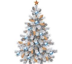 white christmas tree free psd file transparent background free