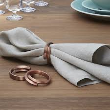 crate and barrel napkins wrap copper napkin ring in napkin rings place card holders