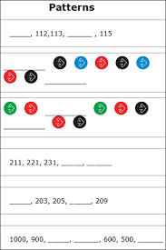 number patterns math worksheets free printable number patterns
