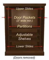 cabinet pocket door slides yes you can have shelves in pocket door cabinets stonehaven life