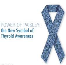 paisley ribbon disease awareness month thyroid awareness paisley ribbon
