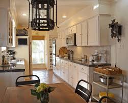 french country style kitchens simple wooden flooring sleek white