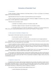 Simple Authorization Letter Act Behalf formation of charitable trust