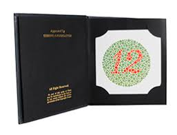 Color Blindness Book Luxvision Ishihara Colour Test Book Deluxe Edition Us Ophthalmic