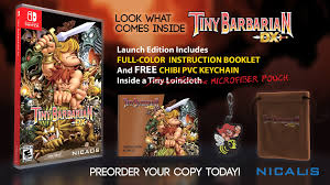 tiny barbarian dx gets release date and retail edition goodies