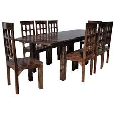 rusticre dining room table chair set w extension and sets for ikea