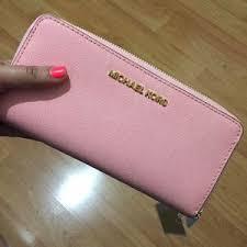 light pink michael kors wristlet michael kors bags pale pink wallet poshmark
