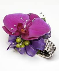 purple corsage tropical wrist corsage w purple phaleonopsis orchid