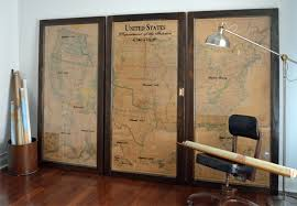 us map framed vintage usa map tryptic map dept of the interior usa map