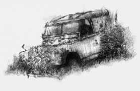 land rover drawing old landie seanbriggs