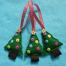 handmade felt christmas tree decorations x 3 christmas trees ebay