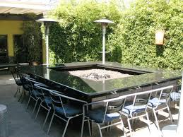 Outdoor Dining Table With Large Fire Pit Nice Fireplaces Firepits