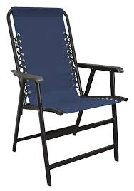 amazon com caravan sports suspension folding chair blue patio