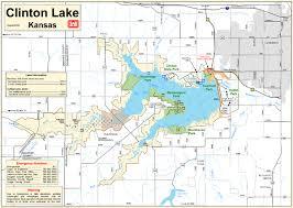 Kansas lakes images File clinton lake map jpg wikipedia jpg