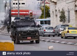 police jeep israeli border police jeep broke into the streets of bethlehem