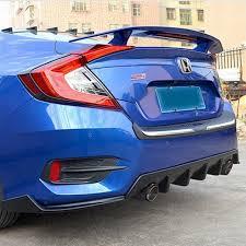 honda civic spoiler brake light fit for honda civic 10gen rear trunk car spoiler wings with brake