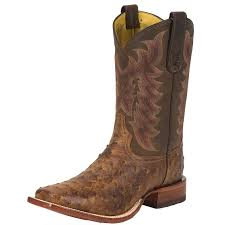 vintage cowboy boot l shop men s tony lama chocolate vintage ostrich cowboy boots
