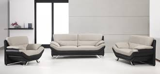 Sofa Casa Leather Amazing Of Bonded Leather Sofa Divani Casa 2927 Grey And Black